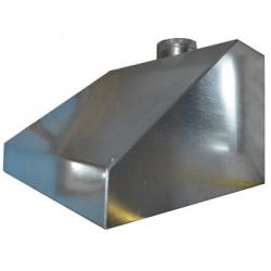 Зонт вытяжной пристенный 600х600 - Ø 160