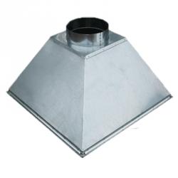 Зонт вытяжной островной 1200х900 - 400х400